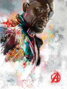 Original Celebrity Painting by Yossi Kotler | Conceptual Art on Canvas | Nick Fury