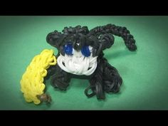 Rainbow Loom: MONKEY / CHIMP Charm (3D / Sits on its own): How To Tutorial / Design