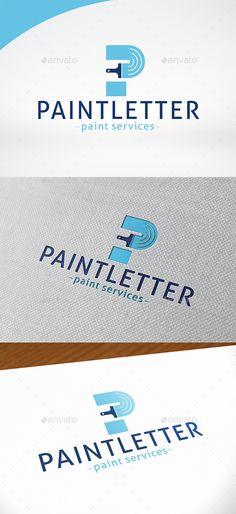 Paint Letter P Logo Template