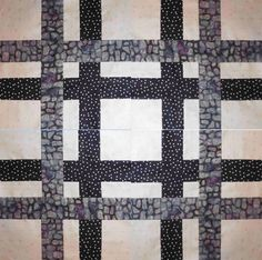 The Plaid and Simple Quilt Block is great for making scrap strip quilts. The black and white shades of this design are perfect for a plaid quilt for boys or simple a neutral color palette.