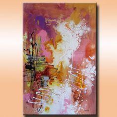 ORIGINAL Modern Art Abstract Painting 24x35 by LimbrantStudio, $150.00