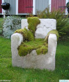 diy,betong fotölj trädgård,do-it-yourself Concrete Yard, Concrete Furniture, Concrete Projects, Garden Furniture, Back Gardens, Small Gardens, Outdoor Gardens, Lawn And Garden, Garden Art