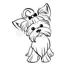 Image result for dibujos faciles de perritos yorky