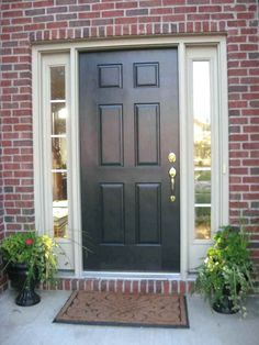 Front Door Ideas For Red Brick Houses.Brick House Front Door Color Homes In 2019 Exterior . 14 Best Front Door Colors Front Door Paint Ideas For . Best Front Doors, Black Front Doors, Wooden Front Doors, Painted Front Doors, Black Windows, Painted Exterior Doors, Best Exterior Paint, Exterior Paint Colors, Exterior House Colors