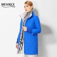 f370639f7 Купить товар 2017 Демисезонные женские пальто вместе с шарфики женские  тонкие модные пуховики новые парки женские