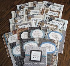 Using a Paper Pad (this pad is for masculine cards and uses Kristie's tutorial for OWH) Inchies, One Sheet Wonder, Paper Cards, Men's Cards, Card Patterns, Scrapbook Cards, Scrapbooking, Card Sketches, Masculine Cards