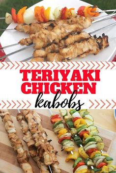 With homemade teriyaki sauce and fresh chicken and veggies you can pick right from your garden this teriyaki chicken kabob recipe is the perfect summertime dinner. Homemade Teriyaki Chicken, Teriyaki Chicken Skewers, Chicken Kabob Recipes, Chicken Kabobs, Grilling Recipes, Quick Lunch Recipes, Fresh Chicken, Fresh Meat, Stuffed Sweet Peppers