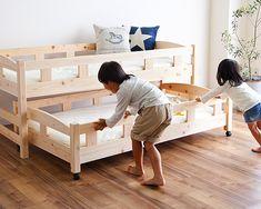 ひのきを使った 親子ベッド(中 親子ベッド(二段・三段ベッド)|親子ベッド通販【家具の里】