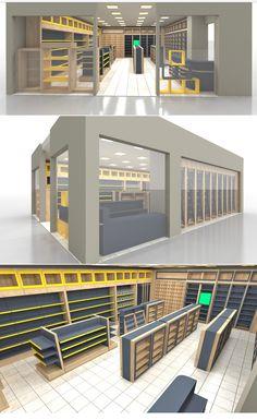 Showroom Design, Shop Interior Design, Mobile Shop Design, Shoe Store Design, Clothing Store Interior, Supermarket Design, Store Layout, Shelving Design, Counter Design