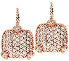 Judith Ripka La Petite Rose Gold Earrings ...love!