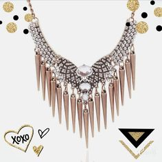 HP✨Statement Necklace Tassel Pendant✨ Extremely cute Statement Necklace ✨punk rock looking style. Dress it up or down. Trendy & stylish.  Material:Gemstone   Crystal Size:44+6 cm/17.32+2.36 inches Weight: 81g Jewelry Necklaces