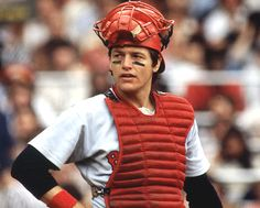Carlton Fisk in 1978~when I was growing up, I thought it was so cool that Carlton Fisk and I share the same birthday!  LOL