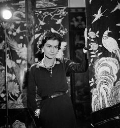 Coco in her apartment in the Rue Cambon