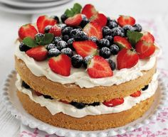 Best Mother's Day Cake Recipes | Best Mother's Day recipes: Berry Cake With Vanilla Cheesecake Filling