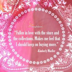#customertestimonials #sarees #fashion #style Customer Feedback, Falling In Love, Sarees, Tableware, How To Make, Stuff To Buy, Style, Fashion, Swag