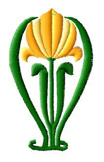 Yellow Tulip Embroidery Design