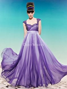 new sheath long prom dress with beading cap sleeve and sweetheart neckline