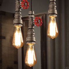 Metal Pipe Edison Industrial Vintage Droplight Ceiling Lamp 1-pendant Loft Cafe