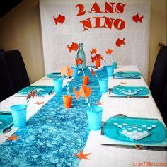 Décoration d'anniversaire pour un enfant de 2 ans sur le thème de #Némo