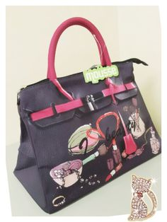 Mousse printed bag - I beauty girlstyle. Size : L39 x H27 x W18cm Price : US$79 Material: Polyester