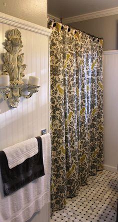 Joy Laforme Dahlias In Periwinkle Shower Curtain