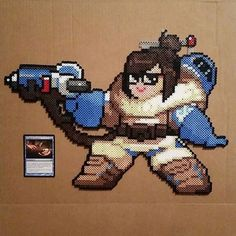 Mei Pixel Spray - Overwatch Perler Beadsprite Pixel Art