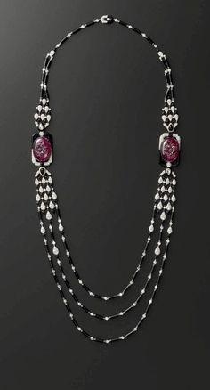 Necklace by Cartier High Jewelry, Luxury Jewelry, Jewelry Necklaces, Antique Jewelry, Vintage Jewelry, Bijoux Art Deco, Jewelry Illustration, Diamond Pendant Necklace, Diamond Necklaces