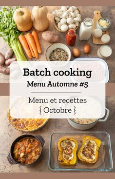 Batch cooking Automne Batch cooking (menu and recipes) for the week of October 21 to 2019 Cooking For A Group, Cooking For Two, Batch Cooking, Fun Cooking, Healthy Cooking, Cooking Time, Meals For Two, Beef Recipes, Cooking Recipes