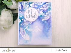 Look at this dreamy card! The shades of blue, feathers and the sentiment will certainly make you awe in its beauty. Visit our blog to learn more about this card. http://altenewblog.com/2016/11/28/stamp-focus-happy-dreams-stamp-set/