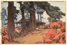 Hiroshi Yoshida, Tea-House-in-Azalea-Garden_1938
