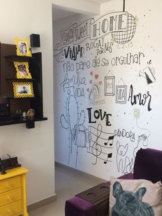Diy Wall, Wall Decor, Room Wall Painting, Cubby Houses, Wall Tattoo, Lettering Tutorial, Office Walls, Home Decor Kitchen, Location