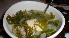 White bean, chicken & kale soup
