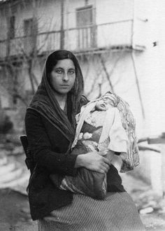 Woman with Infant, Skyros island Cyclades, Greece by Dorothy Burr Thompson (American, Greek Dress, Greek Soldier, Old Greek, Greek History, Great Photographers, Documentary Photography, Past Life, Greek Islands, Athens