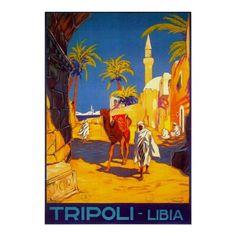 Tripoli Libia - Libya ~ Vintage African Travel Print
