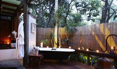 home spa and outdoor living spaces with bathtubs