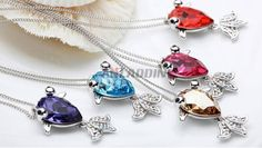 Goldfish pendant in alloy + crystal Cheap Silver Jewelry, Crystal Jewelry, Goldfish, Pandora Charms, Crystals, Pendant, Bracelets, Hang Tags, Crystal