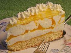 Rezeptwelt: Käsesahnetorte mit Pfirsichen