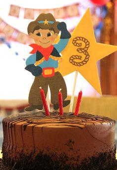 "Photo 12 of 39: Cowboy / Birthday ""Vintage Cowboy Cutie 3rd Birthday"" | Catch My Party"