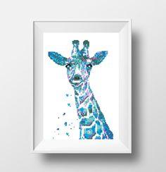 Modern Cross Stitch Pattern Giraffe Watercolor by NikkiPattern