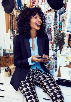 We asked New Zealand raised, Brooklyn-based, fashion illustrator, Nadeesha Godammune to show us three ways—and three places—she's wearing our silk twill pants this holiday. J Crew Outfits, Fall Outfits, Dinner Outfits, Work Outfits, J Crew Style, My Style, Holiday Party Outfit, Look Fashion, Fashion Ideas