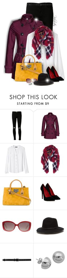 """""""Fall look!"""" by pinkroseten ❤ liked on Polyvore featuring J Brand, Burberry, Banana Republic, Jimmy Choo, Cesare Paciotti, Christian Dior, Life With Bird and Lord & Taylor"""