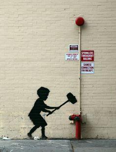 Banksy on the Upper West Side