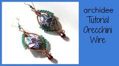 Tutorial   Tecnica Wire   Orecchini bouquet di rose   DIY Easy Wire Earrings