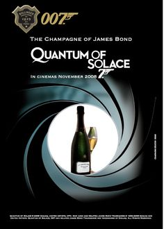 Affisch  James Bond  THE OFFICIAL CHAMPAGNE BOLLINGER POSTER OF JAMES BONDS QUANTUM OF SOLACE.