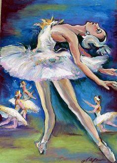 "oil pastels art   Angel""Drawing of the ballerina""Oil Pastel Original drawing - Pastel ..."