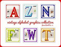 *Rook No. 17: recipes, crafts & creative nesting*: Retro ABC Graphics ~ Vintage Alphabet Block Images