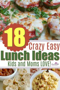 Whether it's summer time or the busy school days, parents need super easy lunch recipes that are ready in minutes, make littleness and taste crazy good.NO problem! You'll find those exact, super-easy lunch recipes right here! One Pot Meals, Easy Meals, Kid Meals, Easy Lunches For Kids, Kid Lunches, School Lunches, Lunch Recipes, Healthy Recipes, Summer Recipes