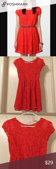 UO - Coincidence and chance revel dress Red coincidence and chance revel dress from UO. Gorgeous lace dress perfect to dress up or down. Worn a few times but still in great condition! Urban Outfitters Dresses Mini