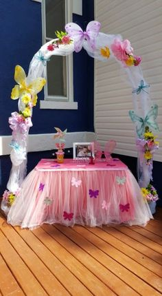 Home Decor Themes Trendy Baby Shower Ideas For Girls Themes Butterfly To Get 46 Ideas.Home Decor Themes Trendy Baby Shower Ideas For Girls Themes Butterfly To Get 46 Ideas Butterfly 1st Birthday, Butterfly Garden Party, 1st Birthday Party For Girls, Butterfly Birthday Party, Butterfly Baby Shower, Garden Birthday, Fairy Birthday Party, Birthday Party Decorations, Birthday Parties