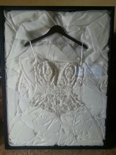 1000 images about wedding dress framed on pinterest for Wedding dress shadow box